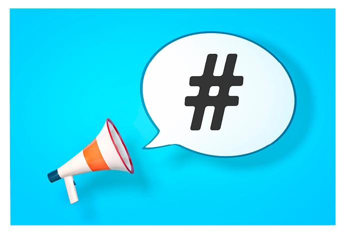 hashtag graphic