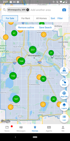 Homesnap pick your search area