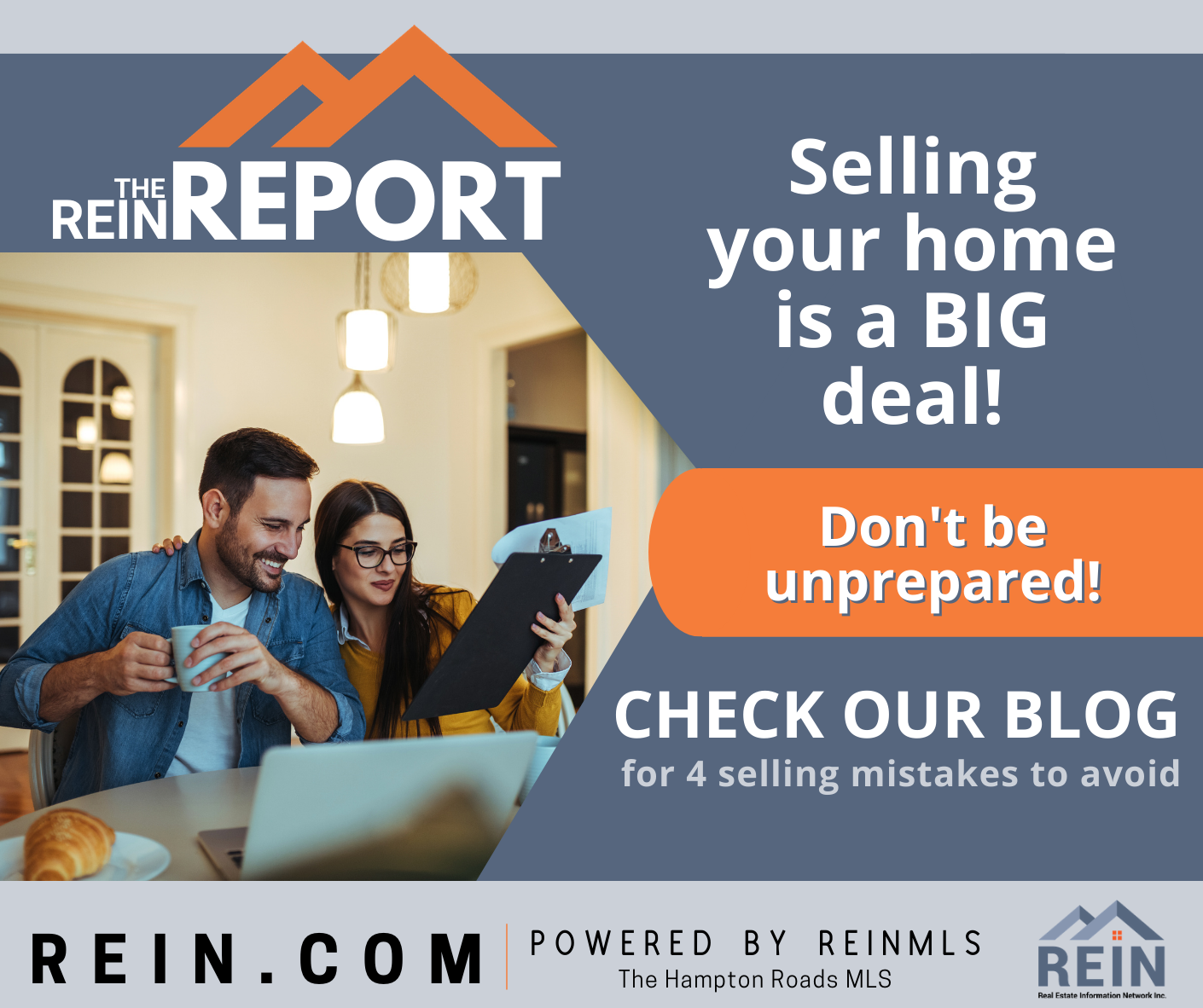 REIN REport, selling your home