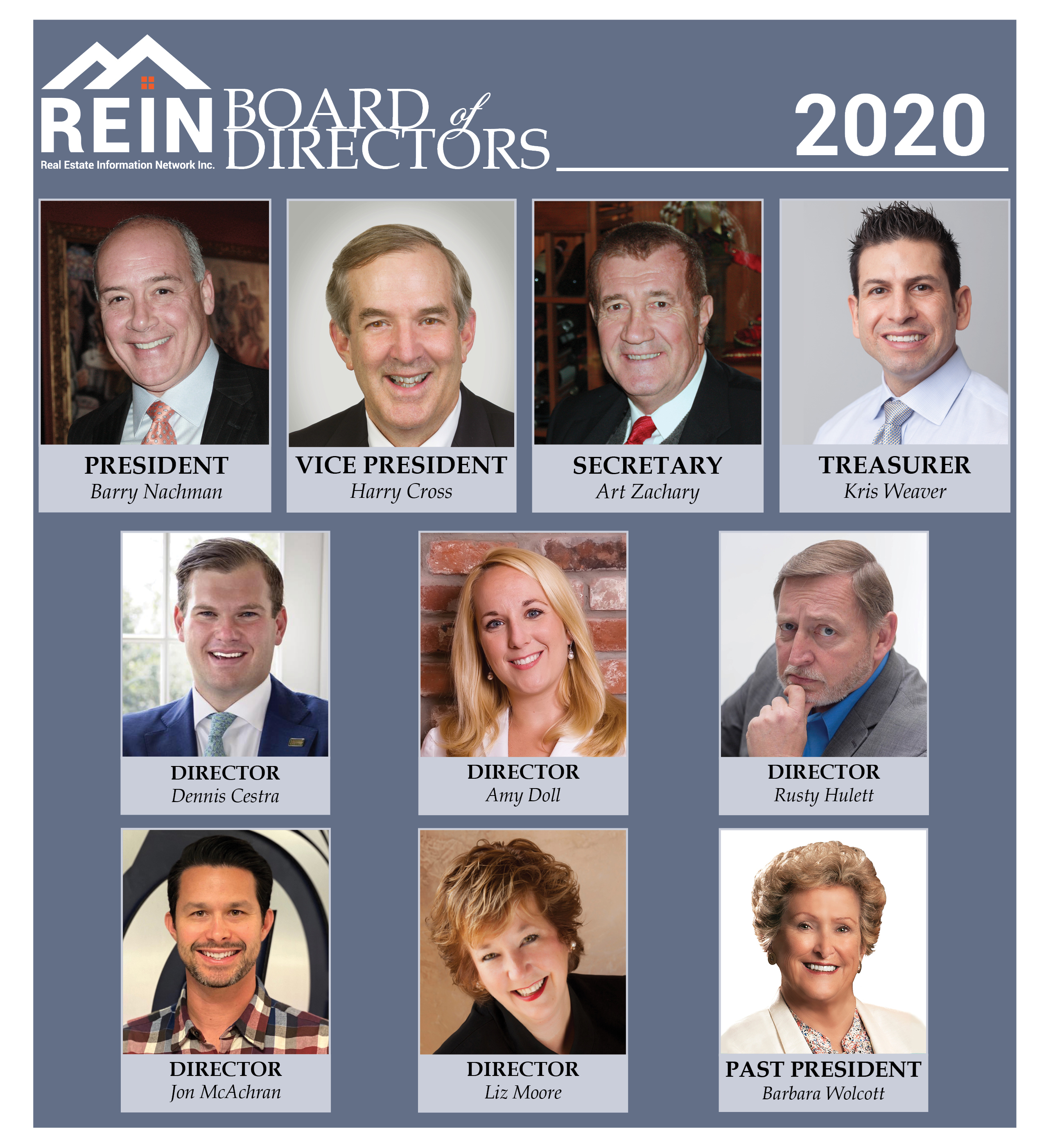 image of rein's 2020 board of directors